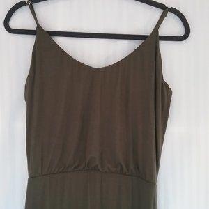 🌞 Khaki Maxi Dress   Side Slit. Med. New!